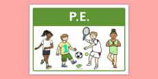 PE Classroom Area Sign