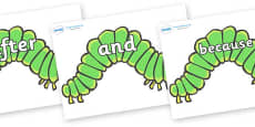 Connectives on Hungry Caterpillars to Support Teaching on The Very Hungry Caterpillar