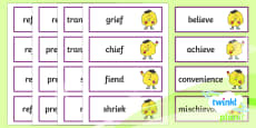 PlanIt Spelling Additional Resources Year 6 Term 2A Spelling Word Cards