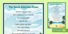 * NEW * The Seven Emirates Poem