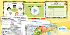 PlanIt - D&T KS1 - Sensational Salads Lesson 2: Root Salad Evaluation Lesson Pack