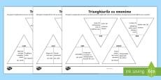 Asamblează triunghiurile Jocul omonimelor