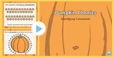 Pumpkin Phonics Consonants Interactive PowerPoint