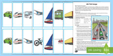 * NEW * Transport Whole Class Interactive Game German