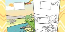 Dinosaur Themed Calendar Template