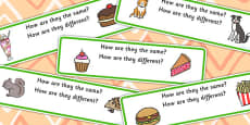 How Are They The Same? How Are They Different? Activity Cards