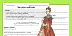 Mary Queen of Scots  Work Sheet with Answers