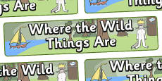 Display Banner (Simple) to Support Teaching on Where the Wild Things Are