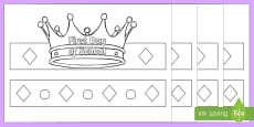 Start and End of Year Grade Crowns Activity