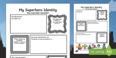 Superhero Transition Writing Frame English/Afrikaans