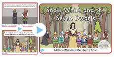 Snow White And The Seven Dwarves Story PowerPoint Romanian Translation