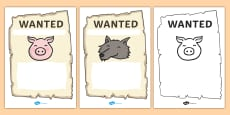 Big Bad Wolf Wanted Posters