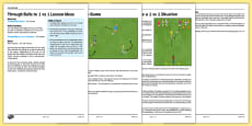 UKS2 Football Skills 5 Through Balls to 1 vs 1 Lesson Pack