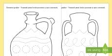 Elemente grafice pe vase țărănești