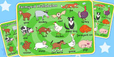 Word Mat to Support Teaching on Farmyard Hullabaloo
