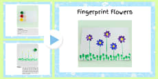Fingerprint Flowers Craft Instructions PowerPoint