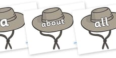 100 High Frequency Words on Cowboy Hats