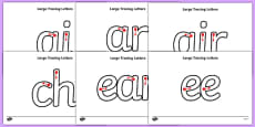 Large Phase 3 Tracing Letters