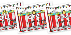 Tricky Words on Fairground Coconut Stands