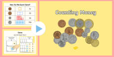 Maths Intervention Counting Money PowerPoint and Activity Sheet Pack