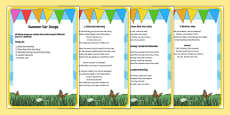 Elderly Care Summer Fair Song Words