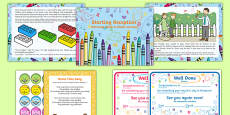 EYFS Starting Reception Editable Powerpoint Story and Resource Pack Polish Translation