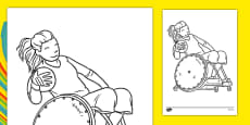 The Paralympics Rugby Colouring Sheets