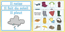 Weather Clothes Sorting Activity French