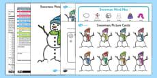 Describe a Snowman EYFS Adult Input Plan and Resource Pack