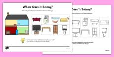 Aistear Homes Where Does It Belong Activity Sheet