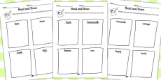 Jack and the Beanstalk Read and Draw Activity Sheet