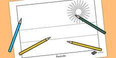 Rwanda Flag Colouring Sheet