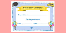 School Graduation Certificate