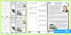 * NEW * Scottish Scientist and Engineer James Watt Differentiated Comprehension Go Respond  Activity Sheets
