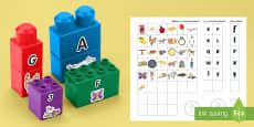 Alfabetar pentru cuburile de construit Joc