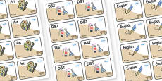 Bobcat Themed Editable Book Labels