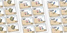 Bobcat Themed Editable Book Labels
