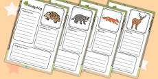 Woodland Animals Factfile Worksheet
