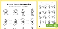 The Enormous Turnip Number Comparison Activity Sheet