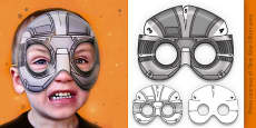 3D Halloween Robot Monster Role Play Mask