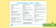 * NEW * Word Processing Guide