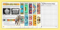 Native American Design Sheet to Support Teaching on The Desperate Journey