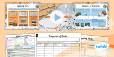 PlanIt - Science Year 3 - Rocks Lesson 2: Grouping Rocks Lesson Pack