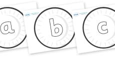 Phoneme Set on Circles (Plain)