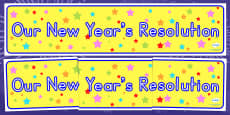 Australia Our New Year's Resolutions Display Banner