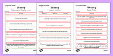 CfE Child Friendly Tracking Early Level Writing
