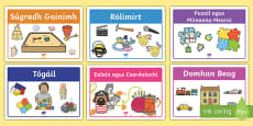 Irish Gaeilge Aistear Play Stations Display Labels