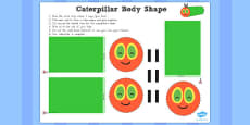 Australia - Body Shape Activity to Support Teaching on The Very Hungry Caterpillar