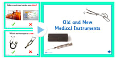 Old and New Medical Instruments Activity PowerPoint