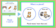 Plurals s and es Teaching PowerPoint